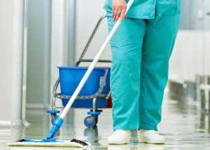 hospital floor disinfect