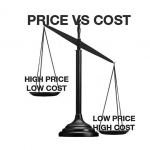 PriceVCostB&W
