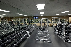 Rubber floors have long been popular in free weight areas in health clubs to absorb the impact of dropped weights