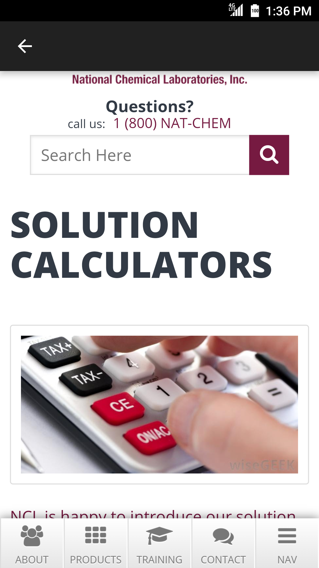 Product Solution Calculator