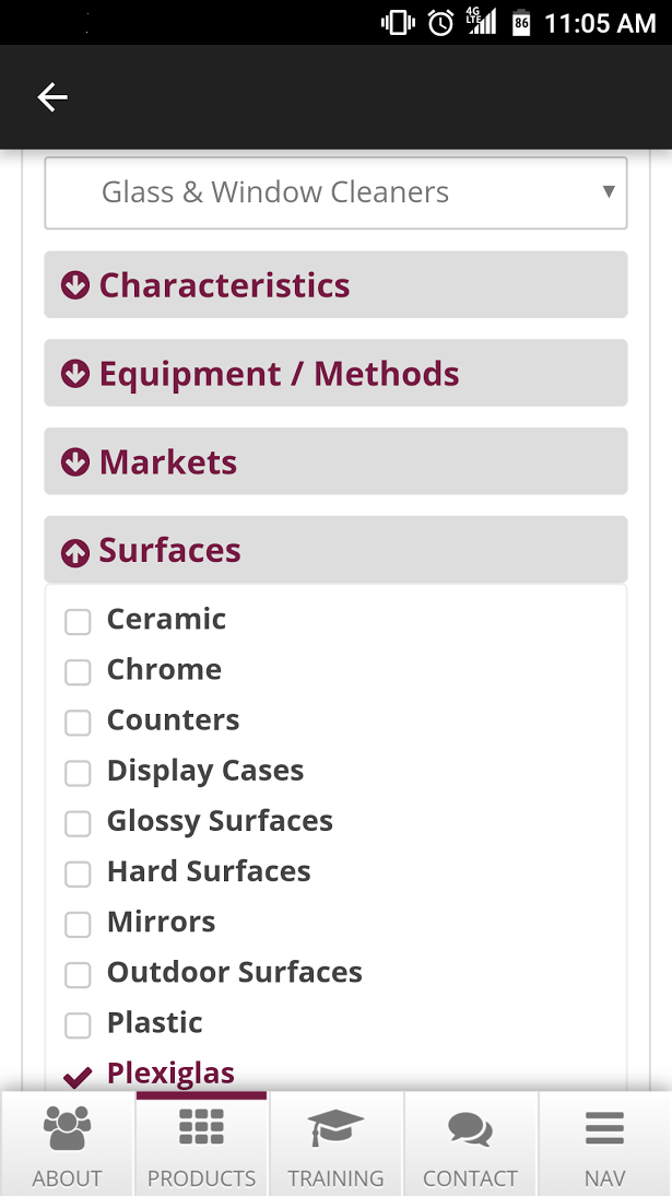 NCL Product Selector